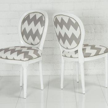 www.roomservicestore.com, Chevron Print Louis Dining chair