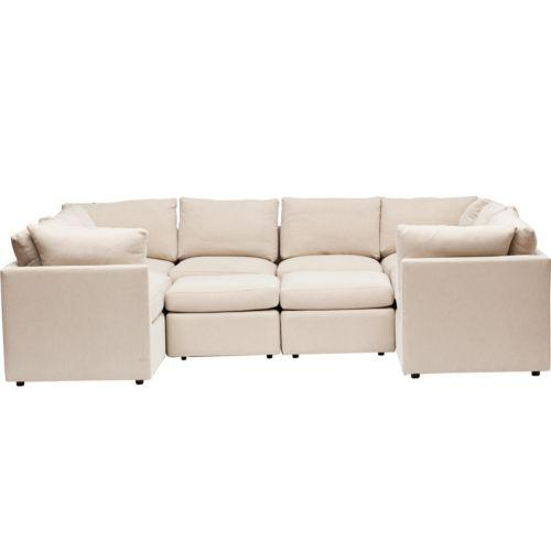 U Shaped Beige Sectional