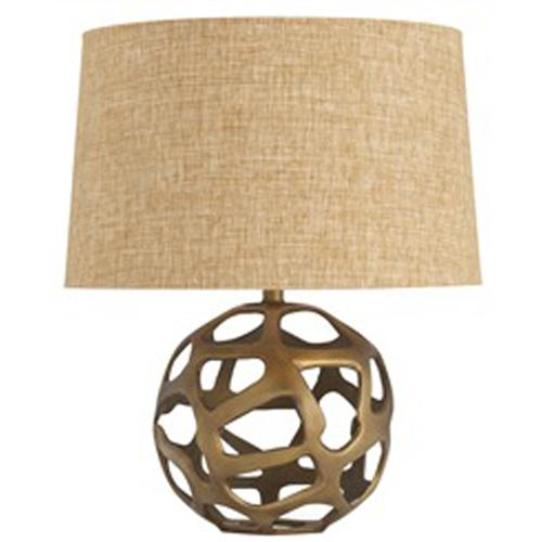 Hammered Sphere Black Shade Table Lamp