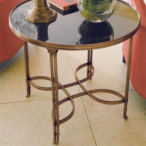 Global Views Double Bamboo Leg Table Brass And Black Granite    Global Views 8.80499   Candelabra, Inc.