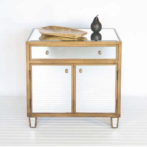 Worlds Away Mirrored Cabinet With Antiqued Gold Wooden Detailing Worlds Away Marlow