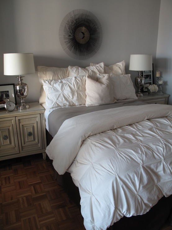 Pintuck comforter contemporary bedroom design 59 for West elm bedroom ideas