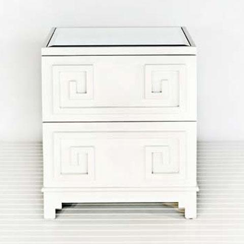 white lacquered furniture. Worlds Away Oriental Nightstand In White Lacquer - Worlds-away-pagoda-wh Candelabra, Inc. Lacquered Furniture