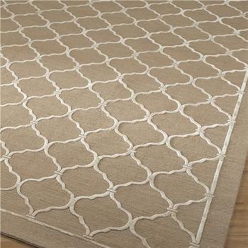 Quatrefoil Trellis Rug 2 Colors, Shades of Light