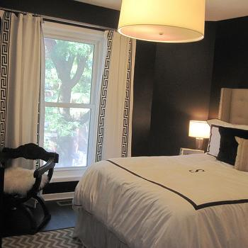 Black and White Curtains, Contemporary, bedroom, HGTV