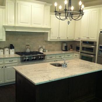 River White Granite, Transitional, kitchen, Sherwin Williams Dover White