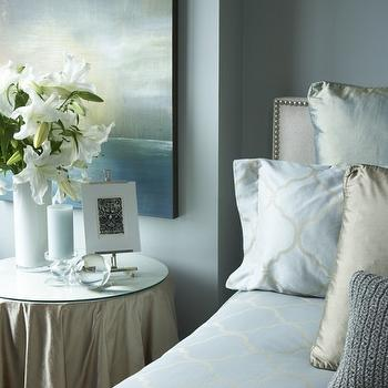 Blue Walls- Transitional, bedroom, Benjamin Moore Tranquility, HGTV