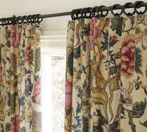 Keira Palampore Floral Beige Drape