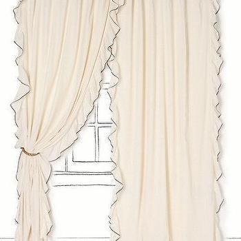 Airy Flounce Curtain, Anthropologie.com