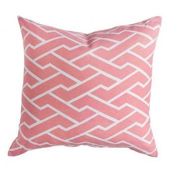 Caitlin Wilson Textiles: Pink City Maze Pillow