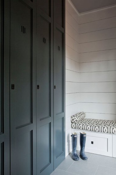 Floor To Ceiling Mud Room Lockers Design Decor Photos