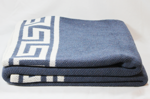 Greek Key Throw, Navy