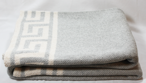 Greek Key Throw, Gray