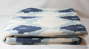 Ikat Throw, Blue