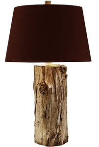 Tall Wood Lamp