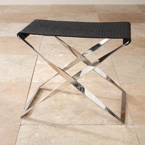 Black Woven Leather Bench: ShopTen 25, Interior Design Dallas TX  