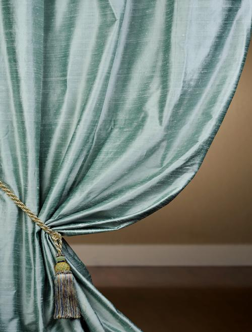 Custom Shoreline Textured Dupioni Silk Curtains Amp Drapes