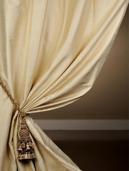 Exclusive Maplewood Textured Dupioni Silk Curtains Half