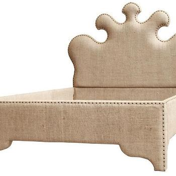 noir furniture burlap bed stylish home furniture m