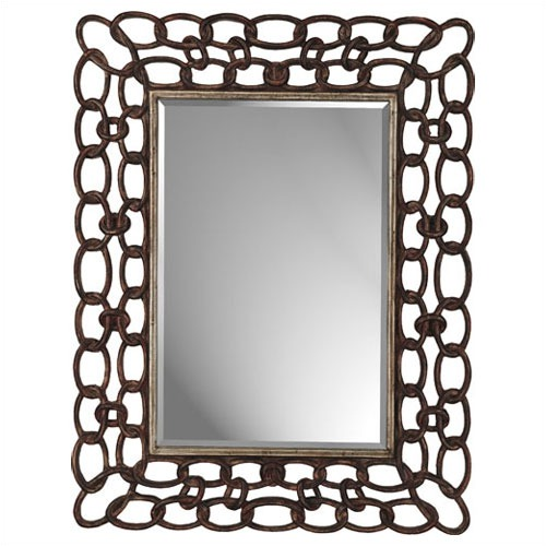 Paragon mottled copper links rectangle mirror look 4 less for Decorative mirrors for less
