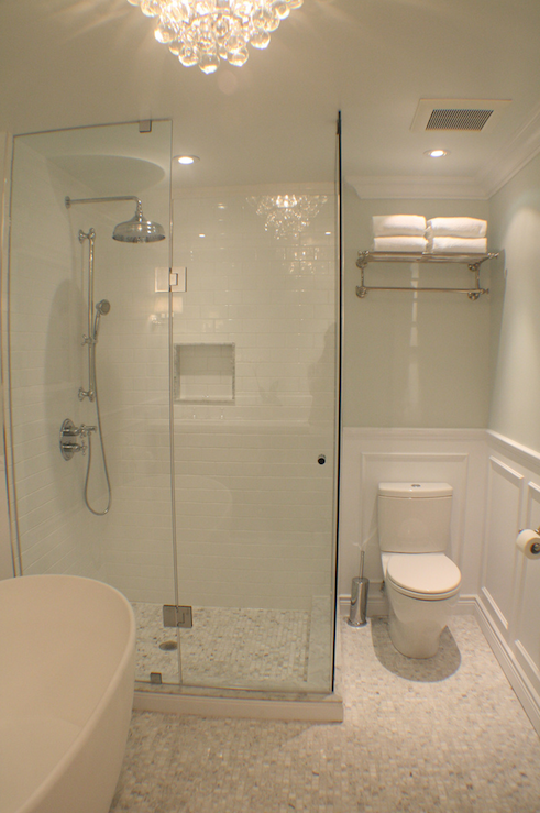 Walk In Shower Ideas Transitional Bathroom Para