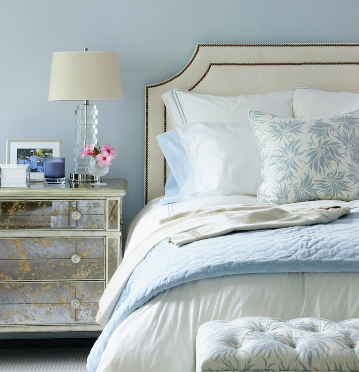 Bedroom Ideas Cream Furniture Shabby Chic Bedroom Yellow Bedroom Bench Blue Bedroom Wallpaper Ideas Grey: Ivory Studded Headboard Design Ideas