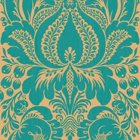 Shop Allen Roth Peacock Damask Wallpaper At Lowes