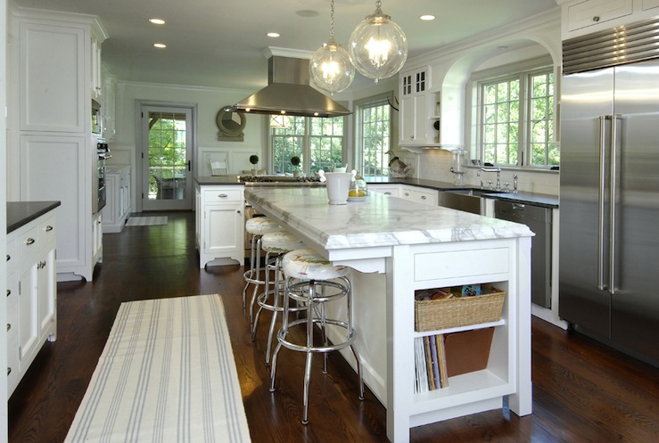 Hood over kitchen peninsula transitional kitchen - Island or peninsula kitchen ...