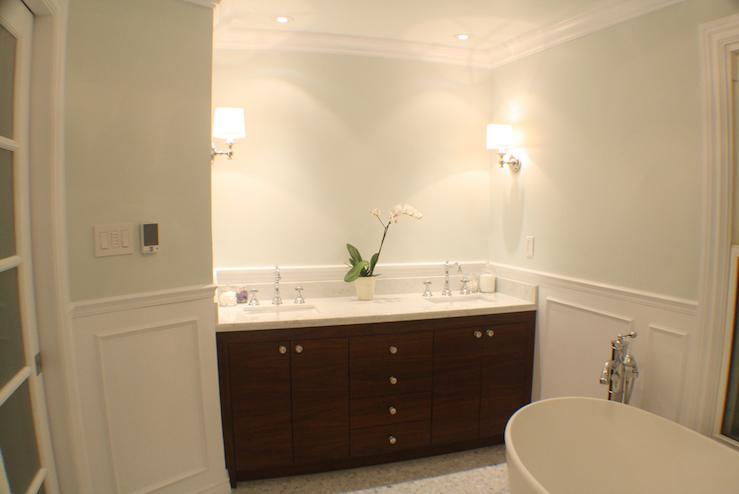 Walnut Veneer Bathroom Vanity Design Ideas