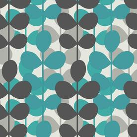 Shop Allen Roth Teal Modern Leaf Stripe Wallpaper At