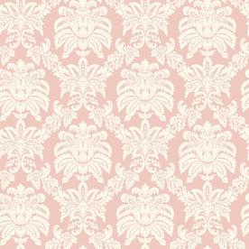 Shop Allen Roth Pink Sweeping Damask Wallpaper At Lowes