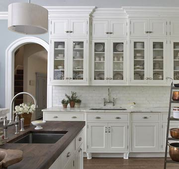 Walnut Butcher Block Countertop Transitional Kitchen Bhg