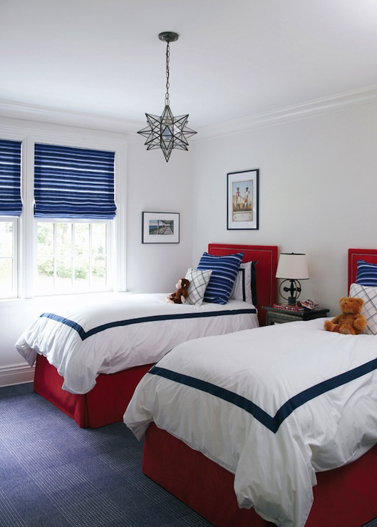 Red And Blue Boys Room Traditional Boy S Room Muse Interiors