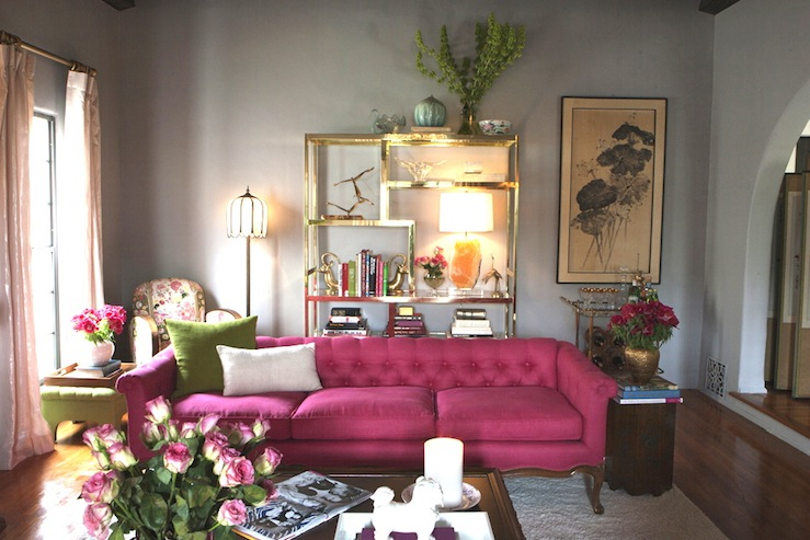 Hot Pink Paint Colors Eclectic Living Room Benjamin