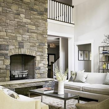 2 Story Living Room Design Ideas