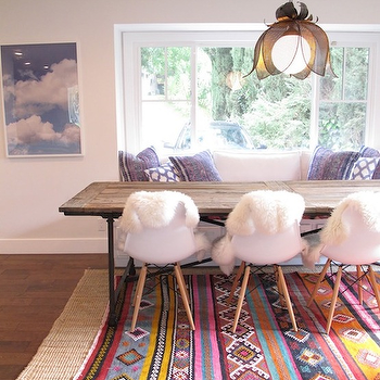 Layered Rugs, Eclectic, dining room, Amber Interiors