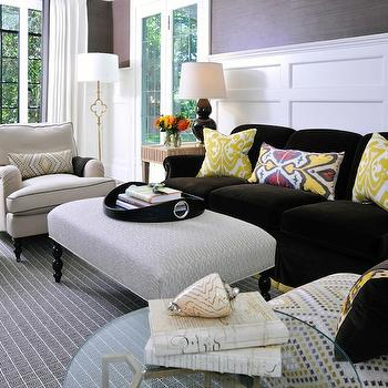 Brown And Yellow Living Room Transitional Living Room Coastal