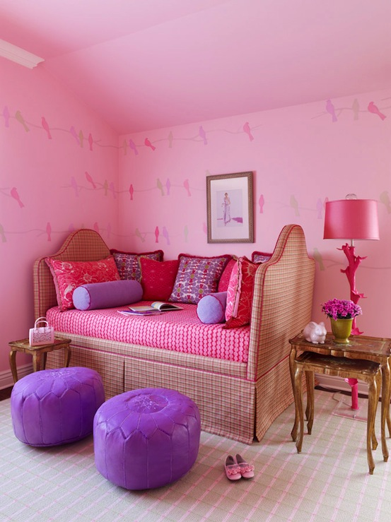 Purple girls room french girl 39 s room meredith mcbrearty - Purple and pink girls bedroom ...