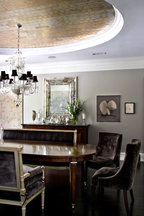 velvet dining chair eclectic dining room studio william hefner