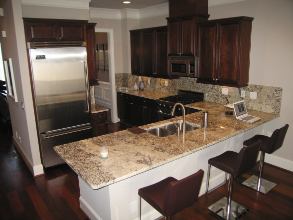 Victory White Granite Contemporary Kitchen Sherwin
