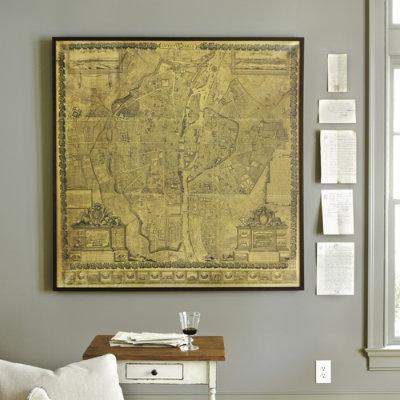Wall art frontgate antique paris map print ballard designs gumiabroncs Images