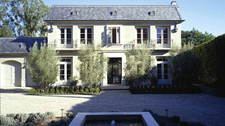 Modern French Chateau Transitional Home Exterior