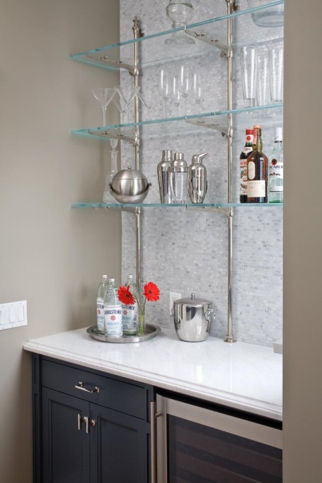 Bar Shelves Contemporary Kitchen Benjamin Moore