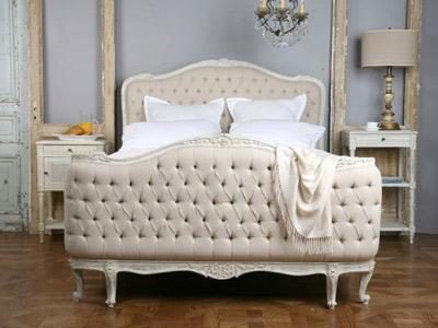 wingback button tufted cream queen size cream upholstered bed