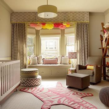 Taupe Nursery, Contemporary, nursery, Jeffers Design Group