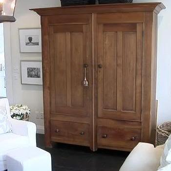 TV Armoire, Transitional, living room, House & Home