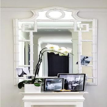 White Bamboo Mirror, Contemporary, entrance/foyer, Ferreira Design