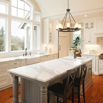 Statuary Marble Countertops, Transitional, kitchen, Halcyon House