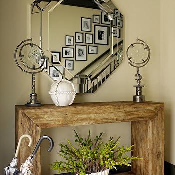 Octagon Mirror, Transitional, entrance/foyer, Jeffers Design Group