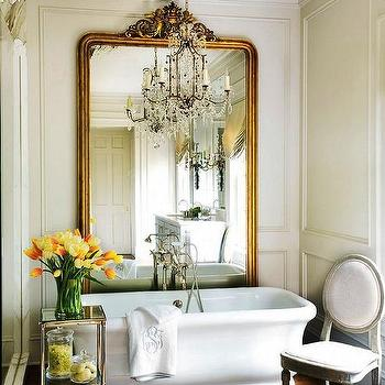 French Floor Mirror - French - entrance/foyer - Angie Gren Interiors